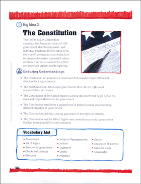 The Essential Questions for Social Studies: Constitution