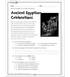 The Ancient Egyptian Celebrations: Grade 6 Close Reading Passage