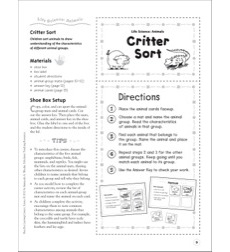 Critter Sort (Animals): Life Science Shoe Box Learning Center