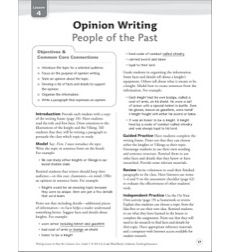 People of the Past (Opinion): Grade 5 Common Core Writing Lesson