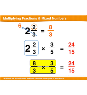 Multiplying Fractions & Mixed Numbers: Math Lesson