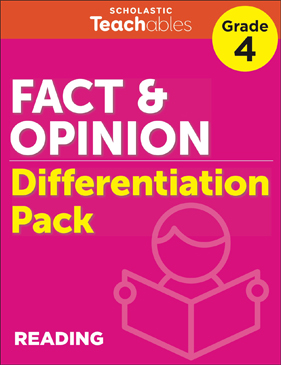 Fact & Opinion Grade 4 Differentiation Pack