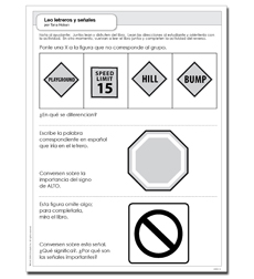 Leo letreros y señales - Activity Sheet