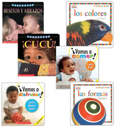 Early Literacy Developmental Milestones Collection: Ages 6-12 Months (Spanish)