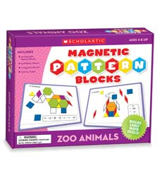 Zoo Animals Magnetic Pattern Blocks