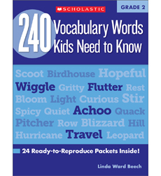 240 Vocabulary Words Kids Need to Know: Grade 2