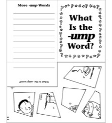 Word Families -ump Mini-Book Riddle Poems