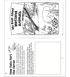 My Book of Wetland Animals: Nonfiction Read & Write Booklet