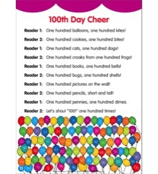 100th Day Cheer: Poetry Mini-Play