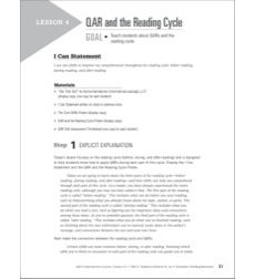 QAR and the Reading Cycle (Informational Passage): QAR Comprehension Lessons (Grades 6-8)
