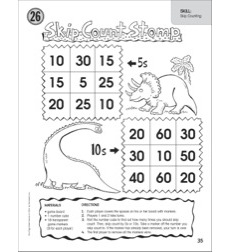 Skip Count Stomp 5s & 10s (Skip Counting): One-Page Math Game