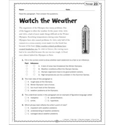 Watch the Weather: Grade 4 Close Reading Passage