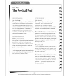 Making Connections (The Football Foul): Hi-Lo Comprehension-Building Mini-Mysteries
