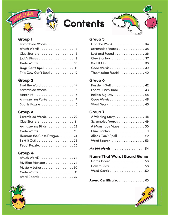 100 Words for Kids to Read in Second Grade by