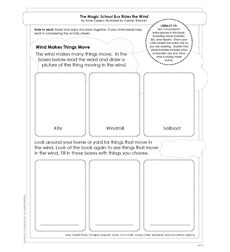 Scholastic Reader, Level 2: The Magic School Bus Rides the Wind - Activity Sheet