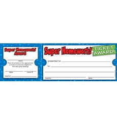Super Homework! Ticket Awards