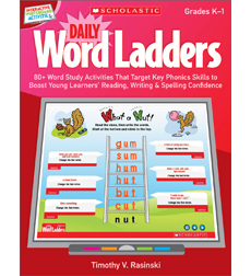 Interactive Whiteboard Activities: Daily Word Ladders Grades K–1
