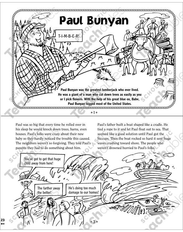 paul bunyan coloring pages  100 images  coloring paul bunyan