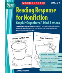 Reading Response for Nonfiction Graphic Organizers & Mini-Lessons