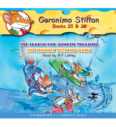 Geronimo Stilton #25 The Search for Sunken Treasure/#26 The Mummy With No Name (Library Edition)