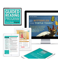 Guided Reading Short Reads Digital Nonfiction and Fiction Grade 4-6 - Medium School