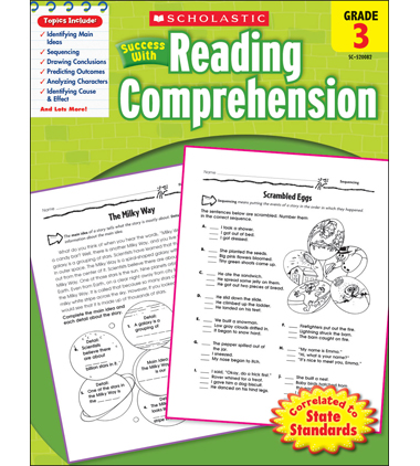 Scholastic Success With Reading Comprehension: Grade 3