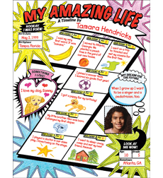 Graphic Organizer Posters: My Timeline: Grades 3–6