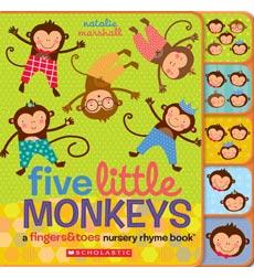 Fingers Toes Five Little Monkeys