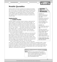 notable quotables better than book reports by