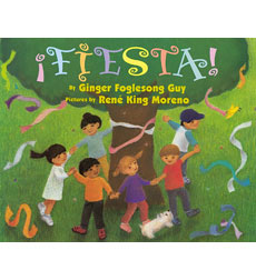 In this colorful bilingual counting book, three children shop for toys and trinkets, then make (and break!) a festive birthday piñata.