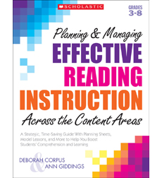 Planning & Managing Effective Reading Instruction Across the Content Areas 9780545395021