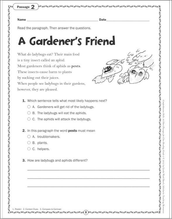 Comprehension Skills: 40 Short Passages for Close Reading: Grade 2 ...