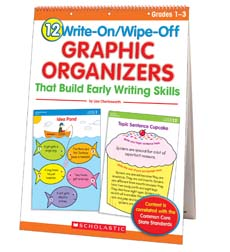 12 Write-On/Wipe-Off Graphic Organizers That Build Early Writing Skills (Flip Chart)