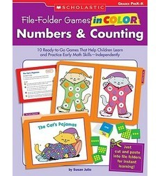 File–Folder Games in Color: Numbers & Counting