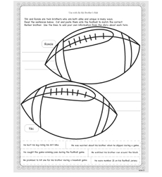 Tiki and Ronde Barber: By My Brother's Side - Activity Sheet