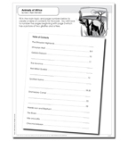 Planet Earth Reader Level 3: Animals of Africa - Activity Sheet