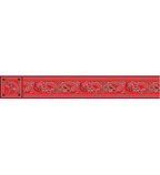 Red Bandanna Borders with Corners