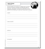 Scholastic Reader, Level 3: Earth in Danger - Activity Sheet