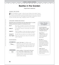 Beetles in the Garden (Target Word - Iridescent): Perfect Poems for Teaching Vocabulary