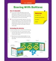 Scoring With Suffixes: Mini File-Folder Center (Grades 2-3)
