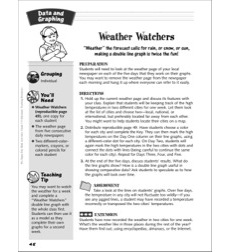 Weather Watchers (creating a double line graph): Data and Graphing Activity