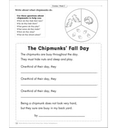 The Chipmunks' Fall Day (Using Questions): October Poetry Frame