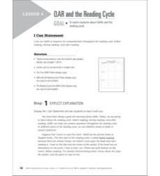QAR and the Reading Cycle (Informational Passage): QAR Comprehension Lesson (Grades 2-3)