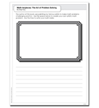 Math-terpieces: The Art of Problem-Solving - Activity Sheet