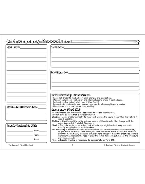 The Teacher's Friend Plan Book by