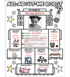 Graphic Organizer Posters: All-About-Me Robot (Grades K-2)
