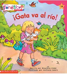 Cuentos Fonéticos (Spanish Phonics Readers): ¡Gata va al río!