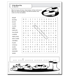 If the Shoe Fits - Activity Sheet