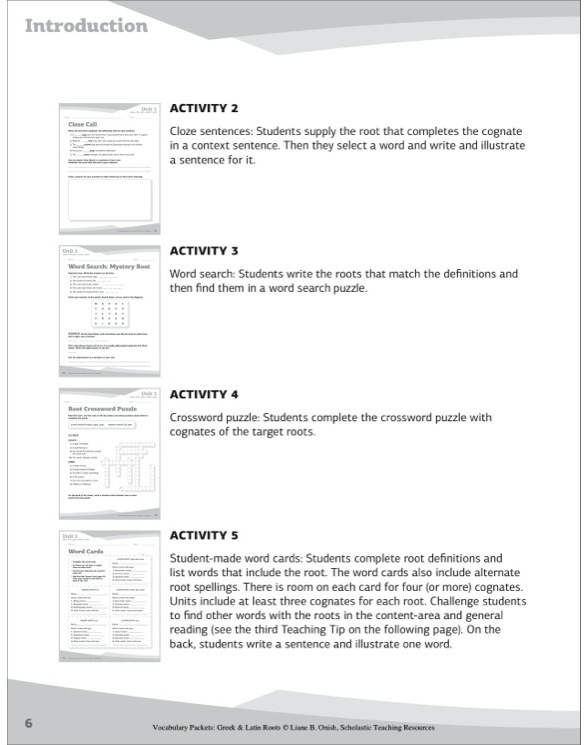 Vocabulary Packets Greek Latin Roots by Liane B Onish – Greek and Latin Roots Worksheet