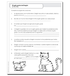 gato gordo de Dragón, El - Activity Sheet